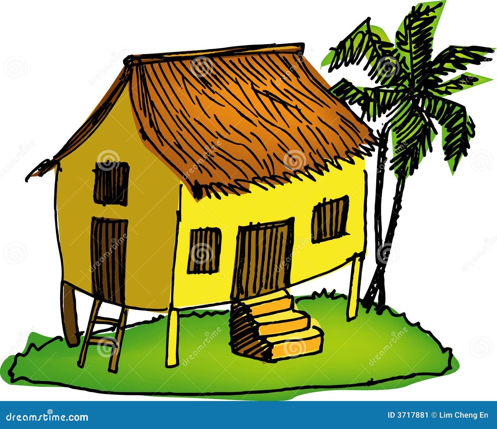 Malay House Stock Image - Image: 3717881