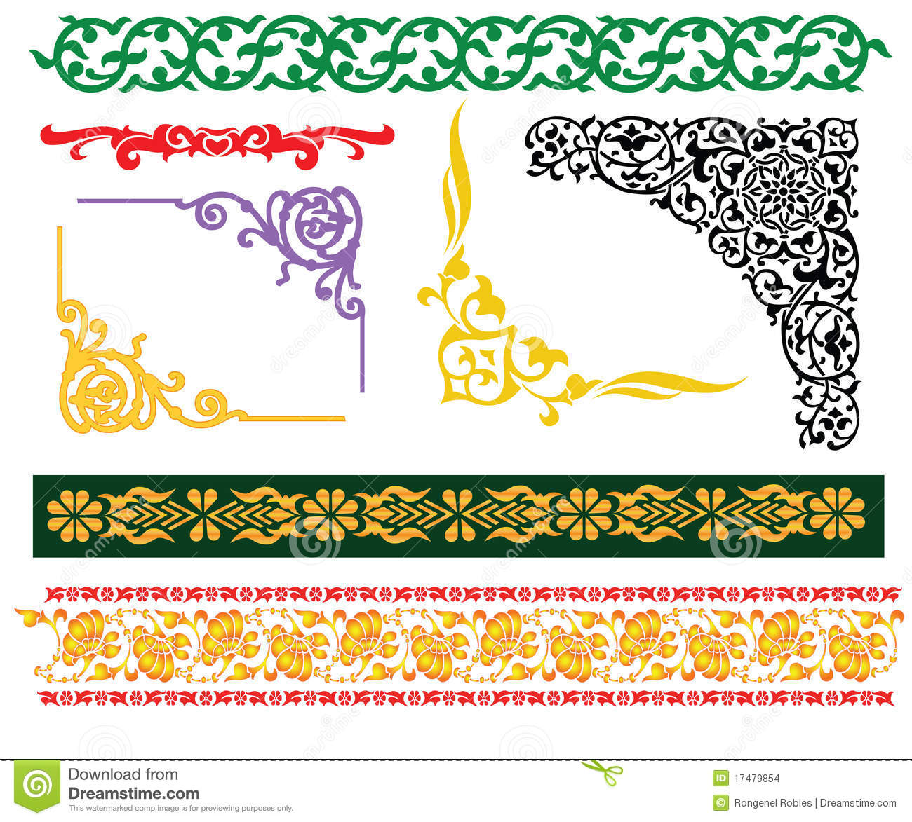 Malay islamic borders and frames for hari raya aidilfitri eid mubarak ...