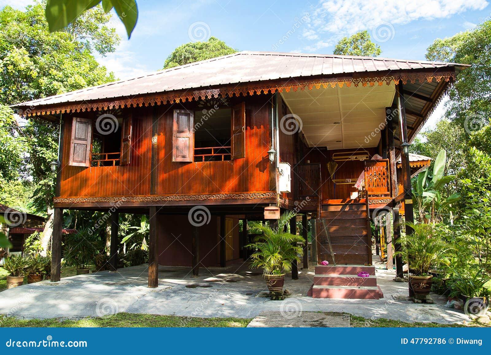Malay Traditional House Stock Photo Image 47792786
