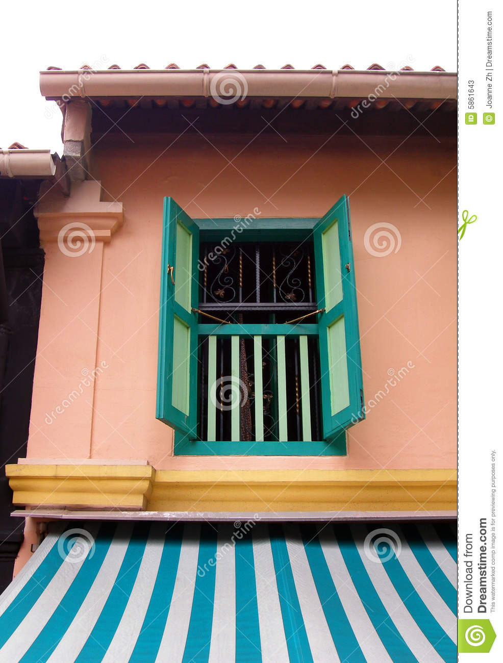Malay Village House Window Stock Photos Image 5861643