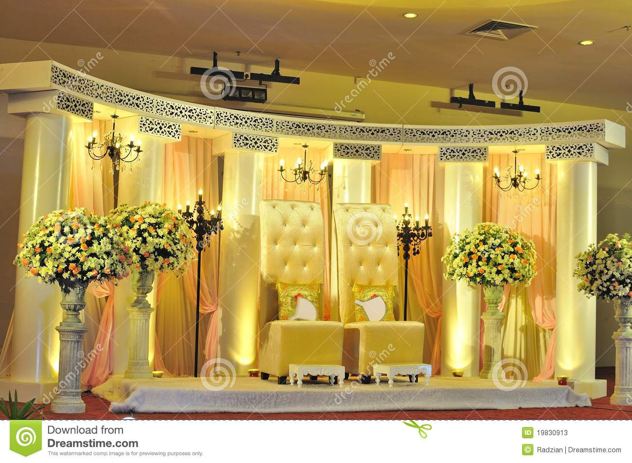 Malay Wedding Chair And Stage Decoration