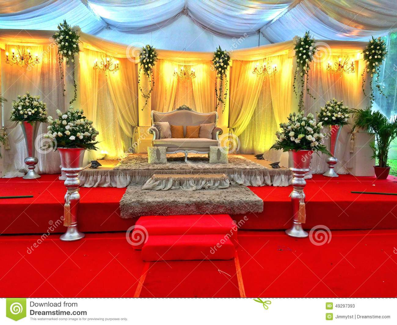 Malay Wedding Stage Decor Singapore Editorial Stock Photo