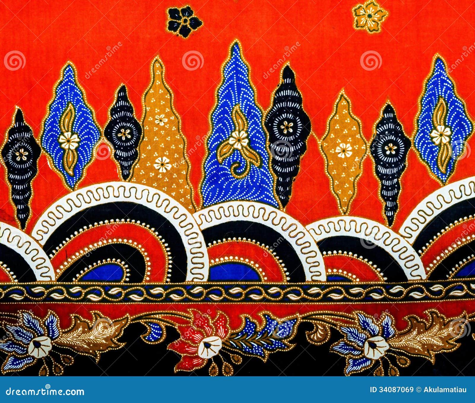 Batik Pattern, Malaysia Stock Image