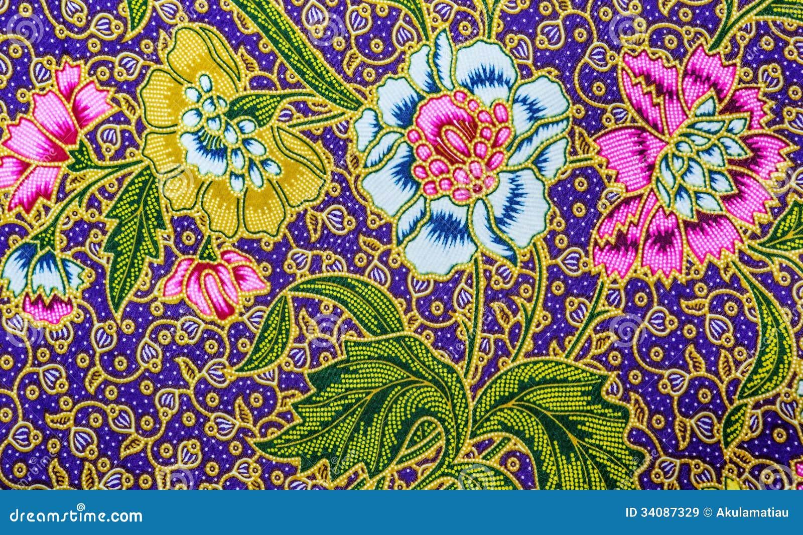 Malaysia Batik Pattern VII Royalty Free Stock Images - Image: 34087329
