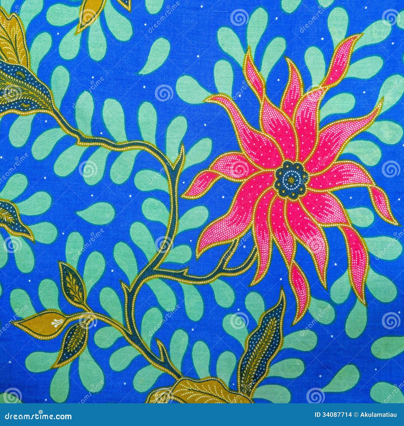 Malaysia Batik Pattern XIV Stock Photo. Image Of Pattern