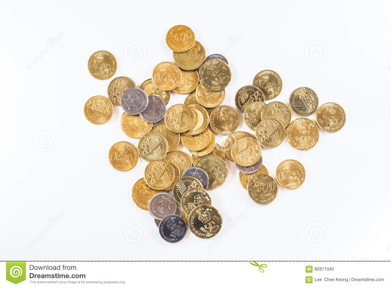 Malaysia Currency Coins And Banknotes Stock Photo - Image of