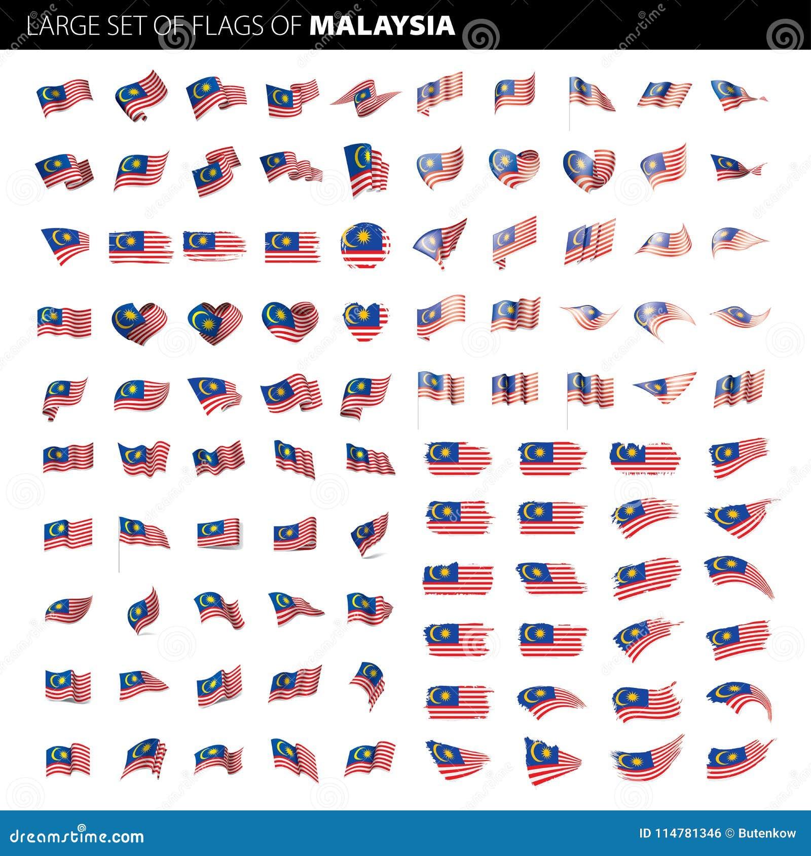 Malaysia flagga, vektorillustration
