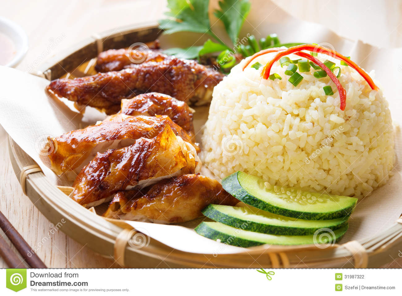Malaysia grilled chicken rice stock photo image 31987322 for Asia oriental cuisine