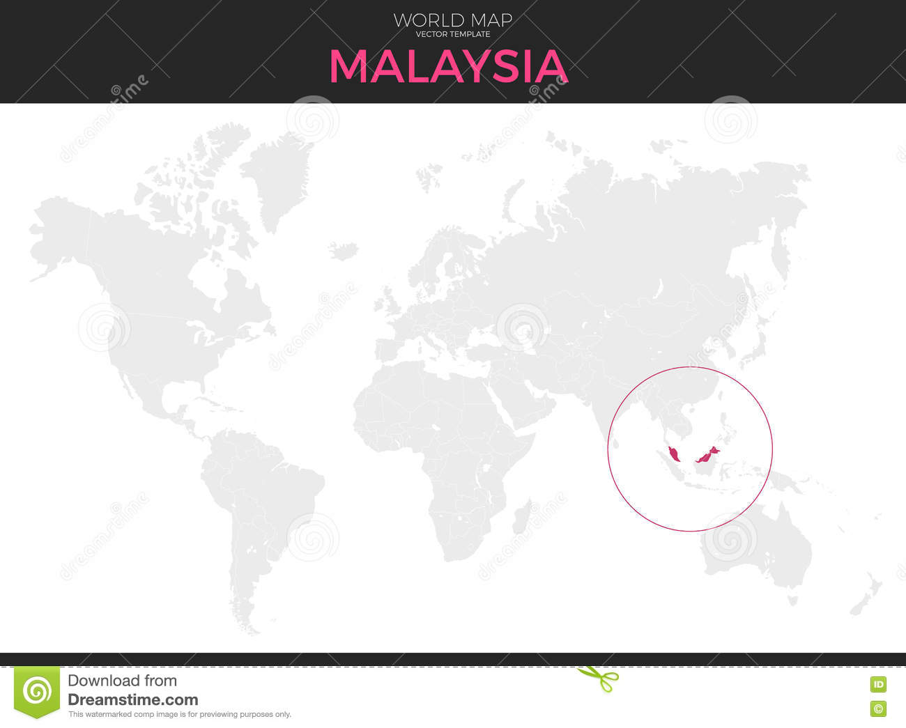 Malaysia Location Map Stock Vector Image 73378648