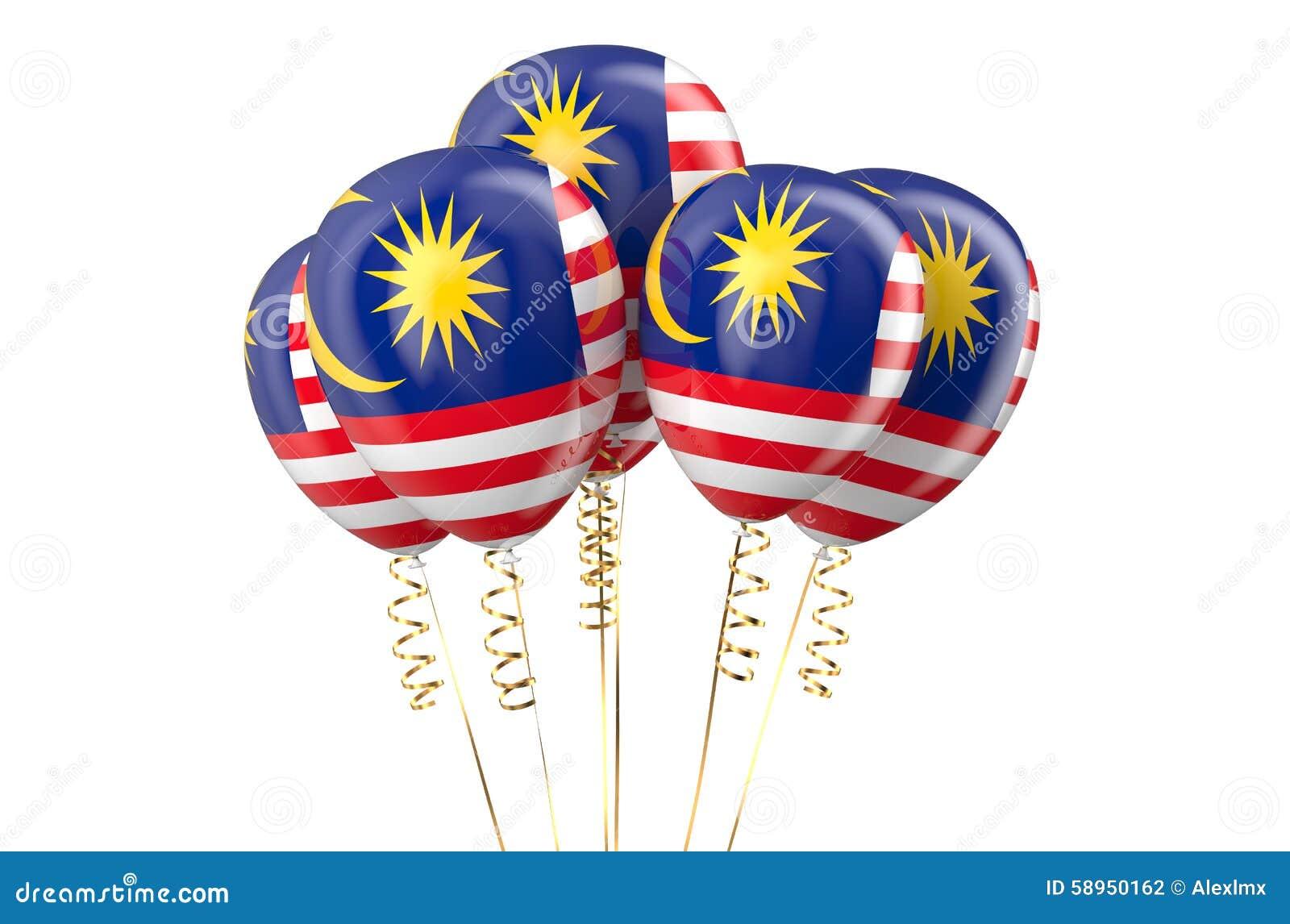 Malaysia patriotiska ballonger som är holyday