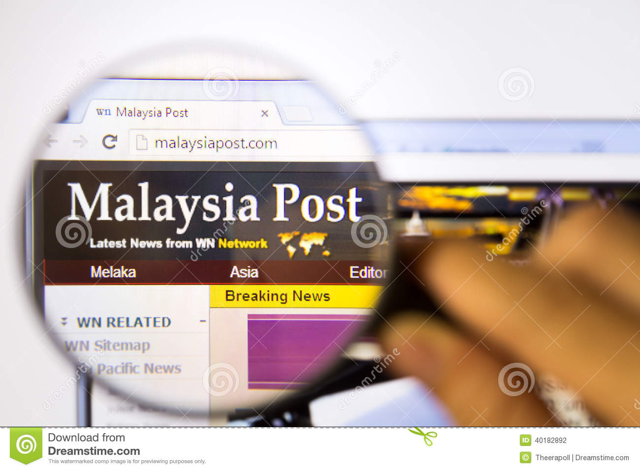 5c5cfa09ac7 Malaysia Post editorial photography. Image of magnifying - 40182892
