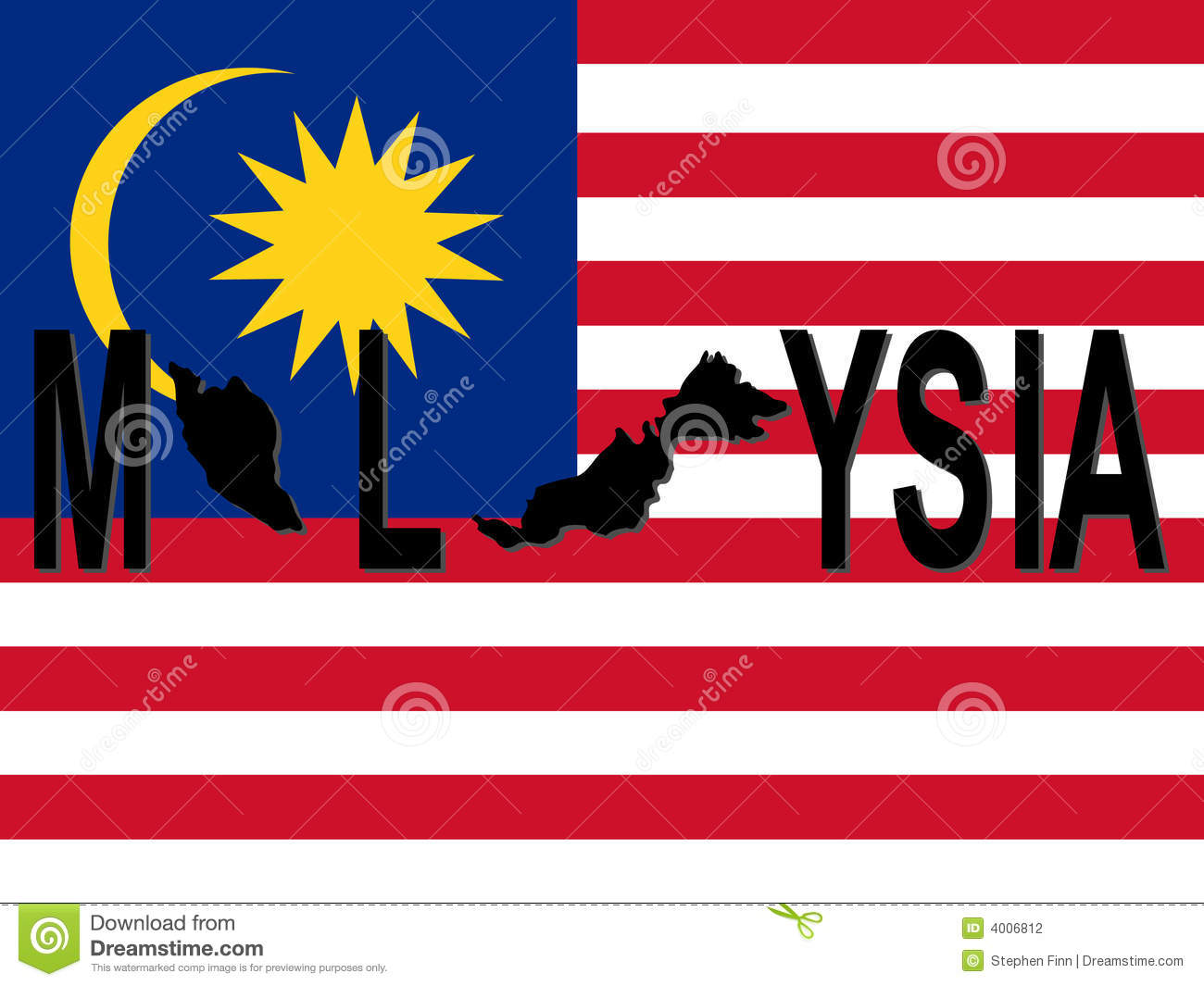 Malaysia text with map