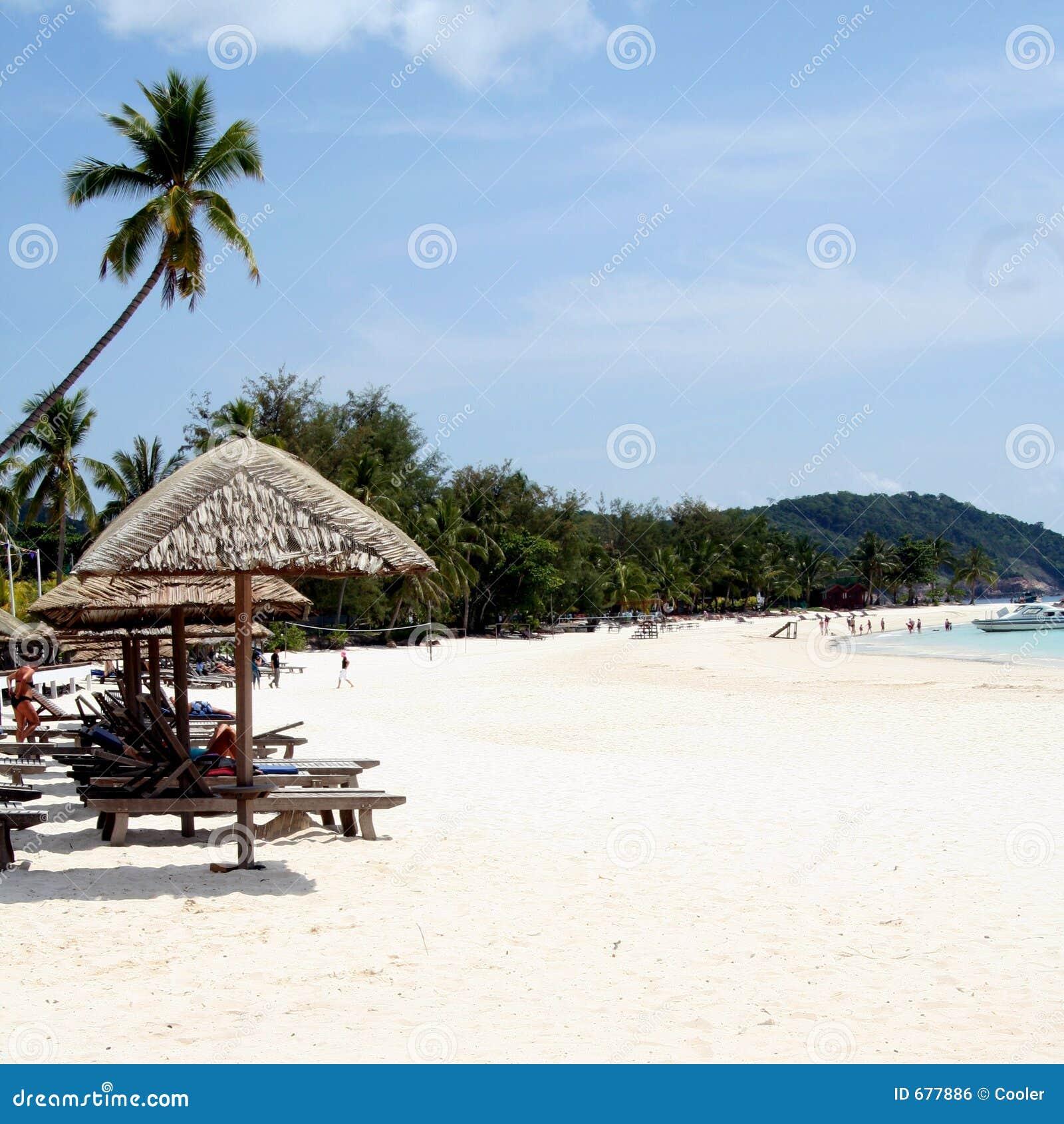 Malaysia Beach: Malaysian Beach Stock Photo. Image Of Cabana, Holiday