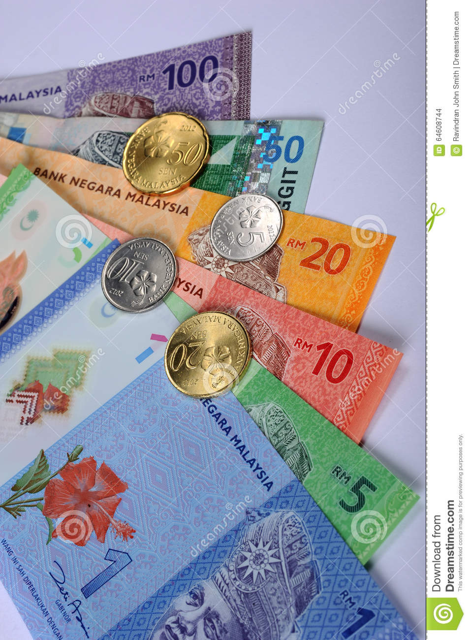 Malaysian Currency Stock Photo Image Of Code Currency 64608744