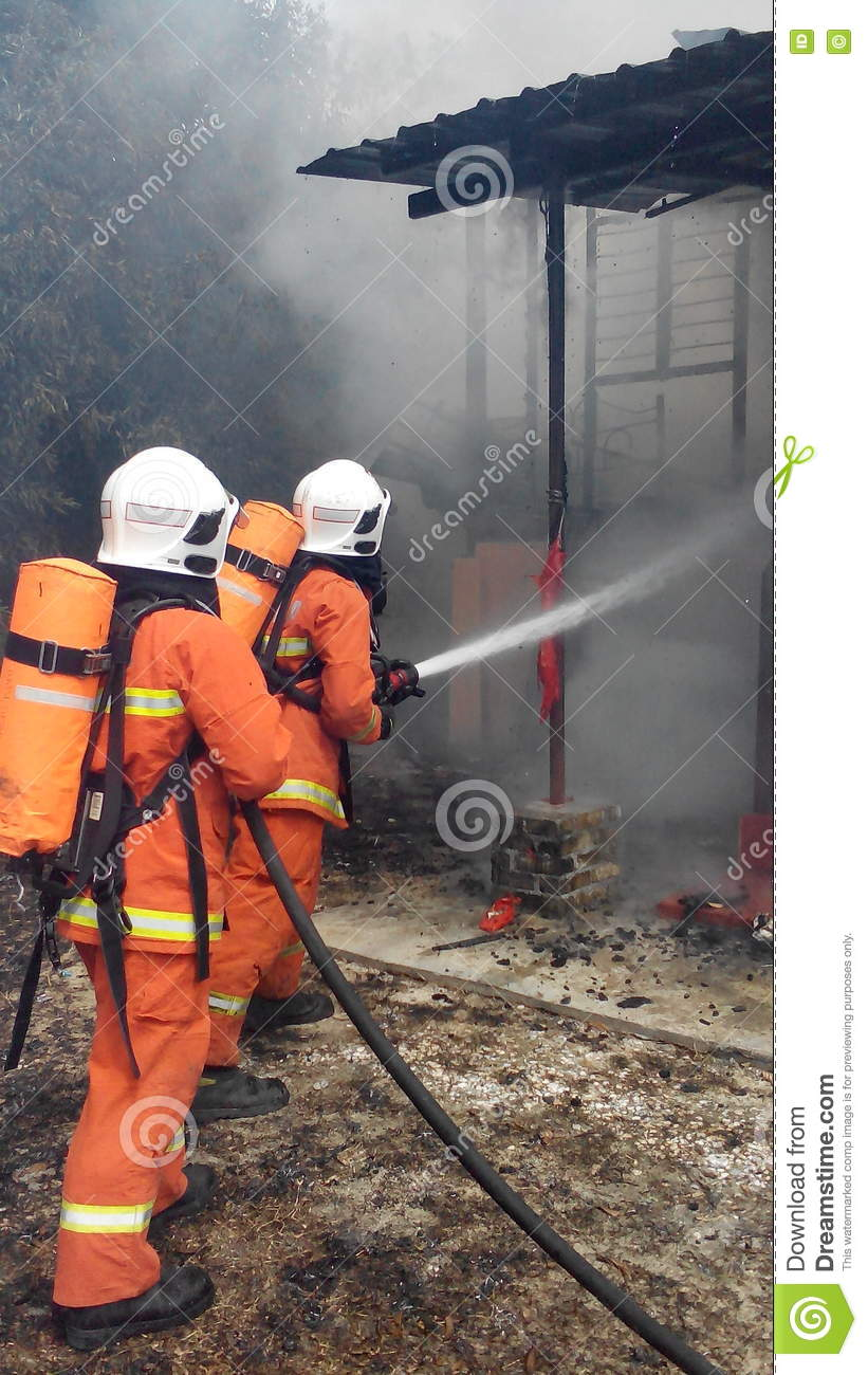 Malaysian Fire Resque Department in Action