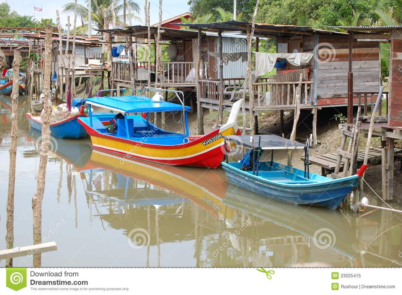 Malaysian Fishing Village Editorial Image - Image: 23025415