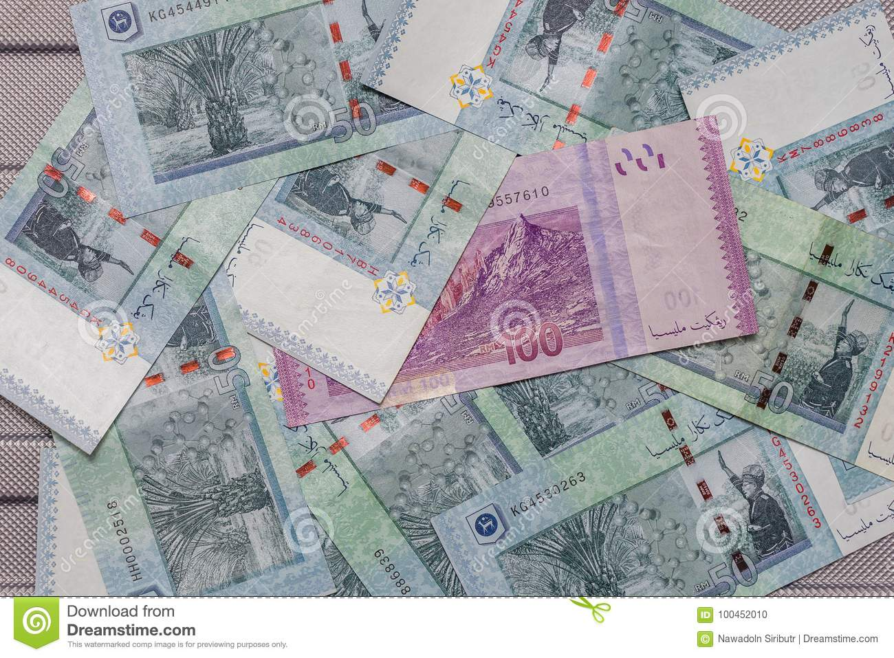 Malaysian Ringgit Currency On Pattern Background Stock Photo Image