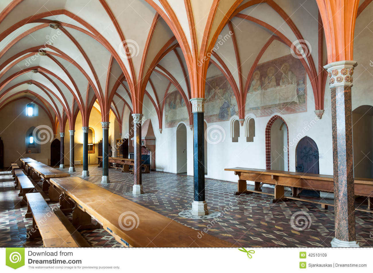 Malbork Castle Dining Hall Stock Image Image Of