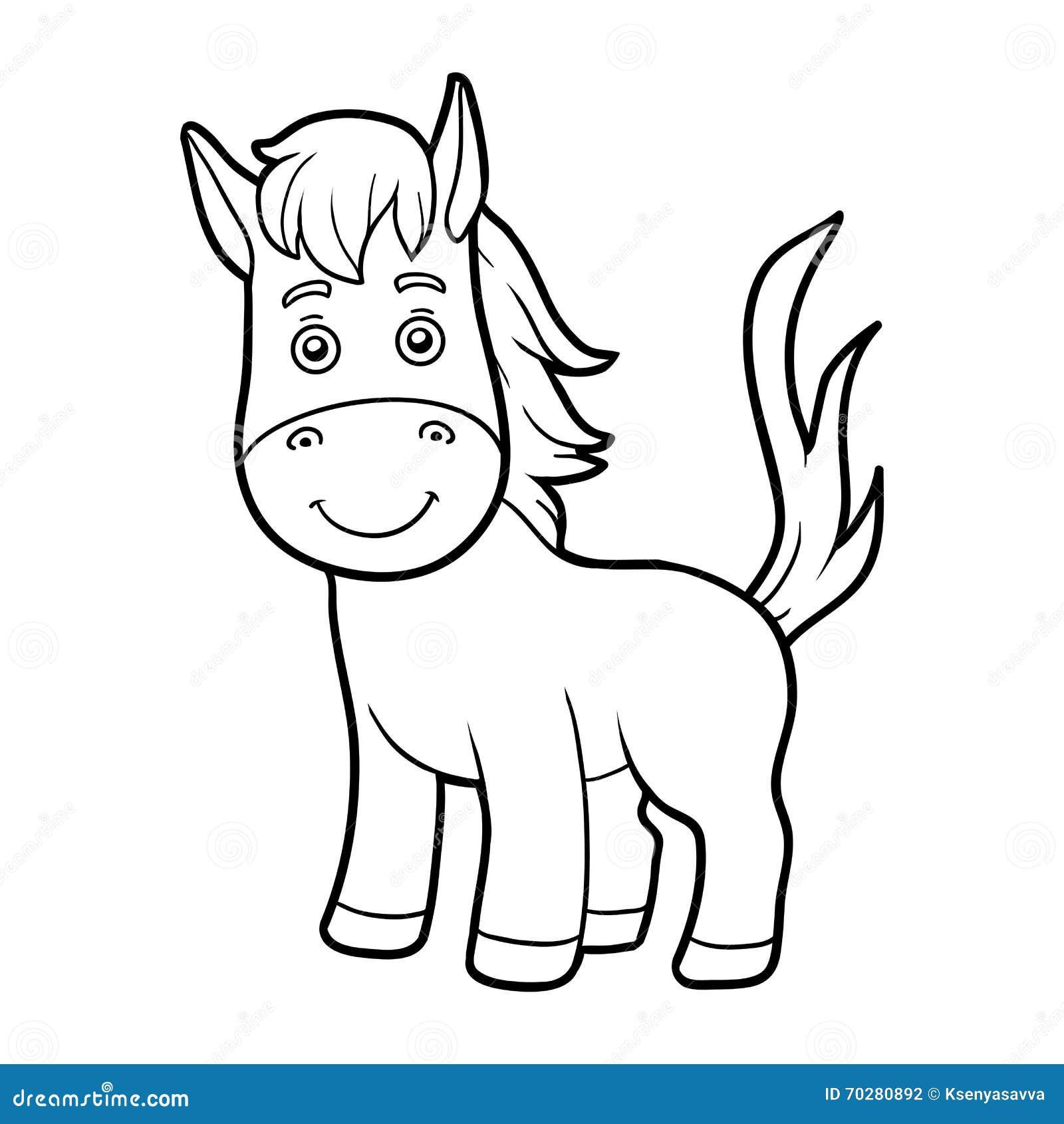 Malbuch, Färbungsseite (Pferd)