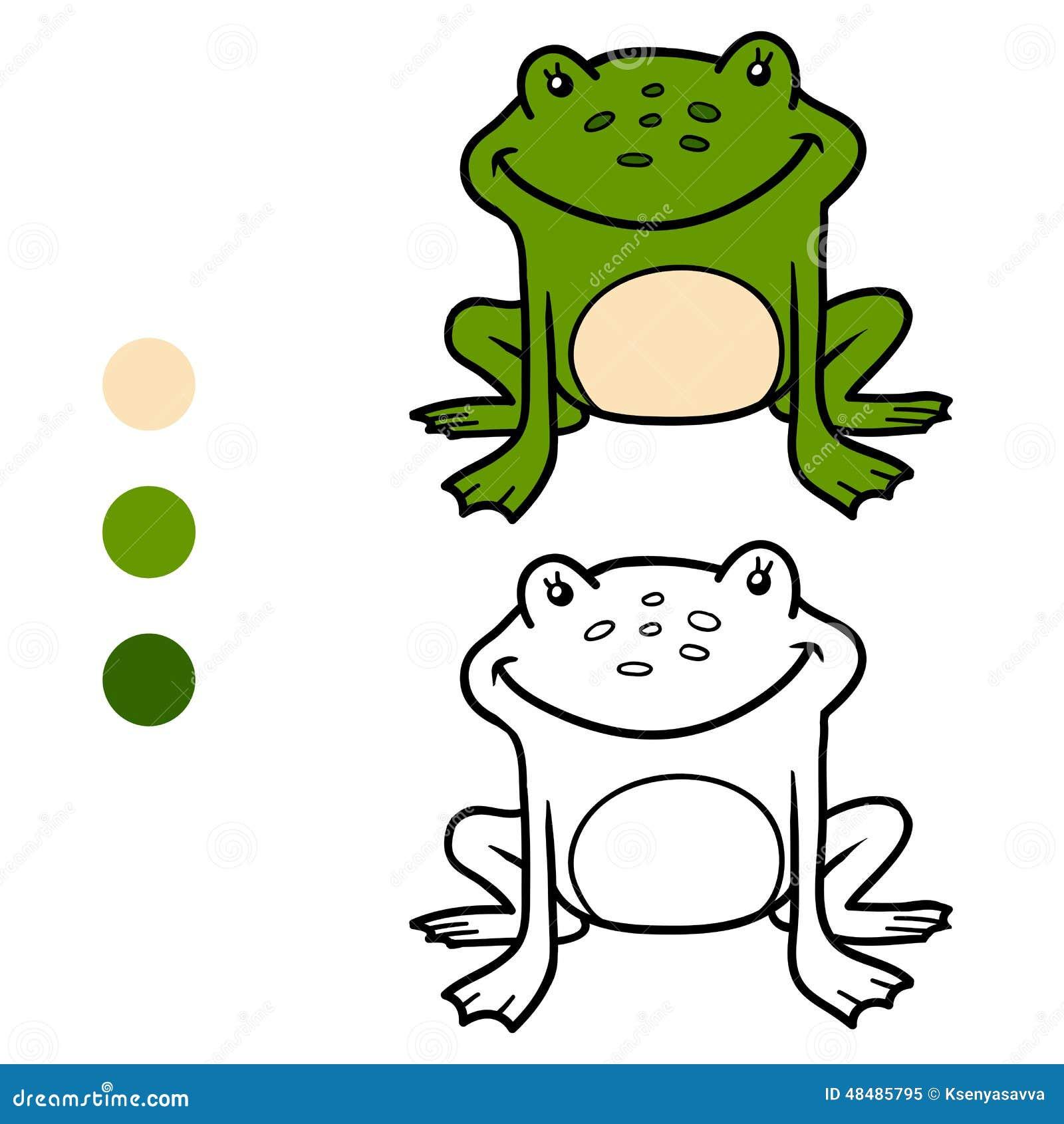 Malbuch Für Kinder (Frosch) Vektor Abbildung - Illustration von tier ...