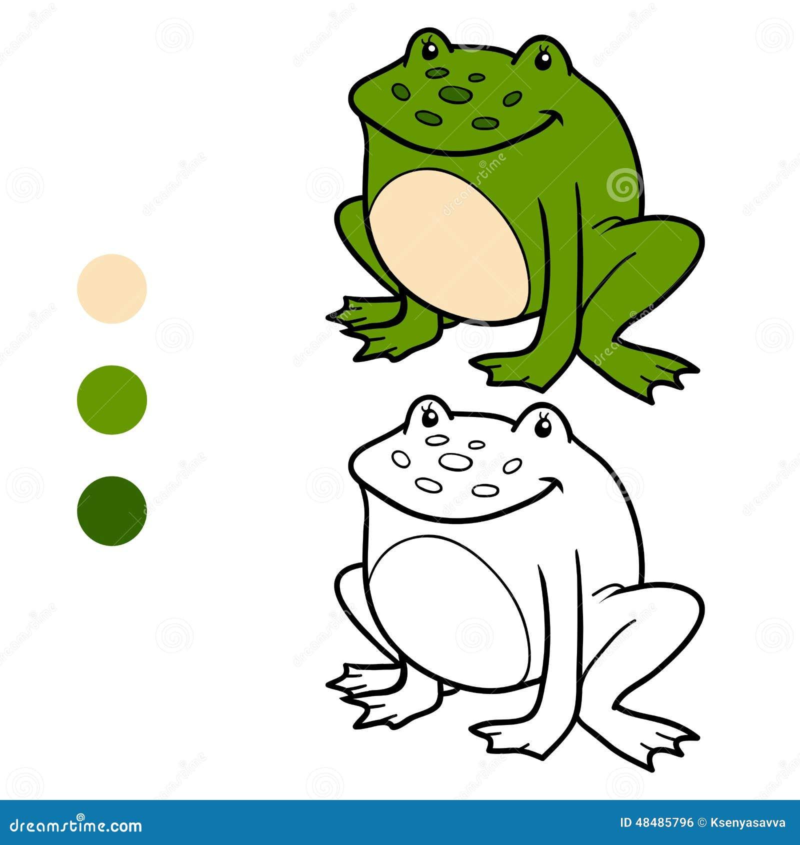 Malbuch Für Kinder (Frosch) Vektor Abbildung - Illustration von ...