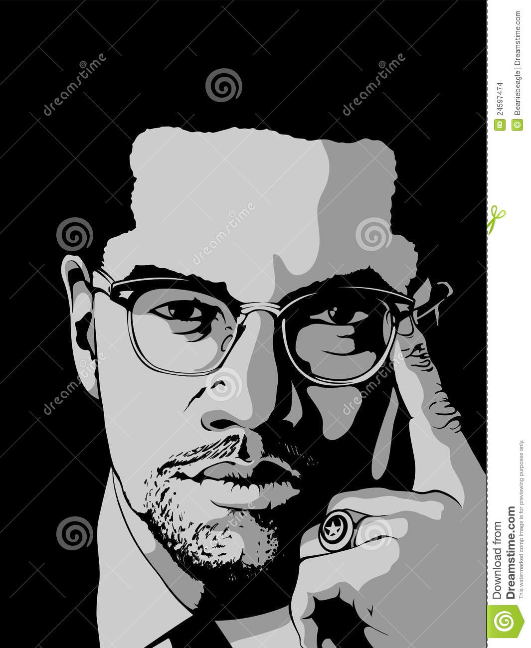 Malcolm X Editorial Stock Image Illustration Of Equality