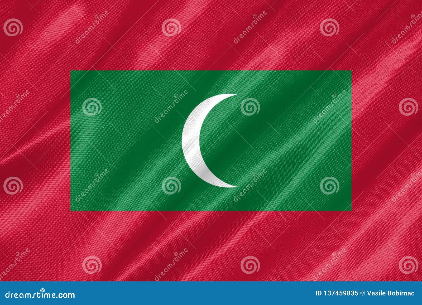 Maldiverna flagga