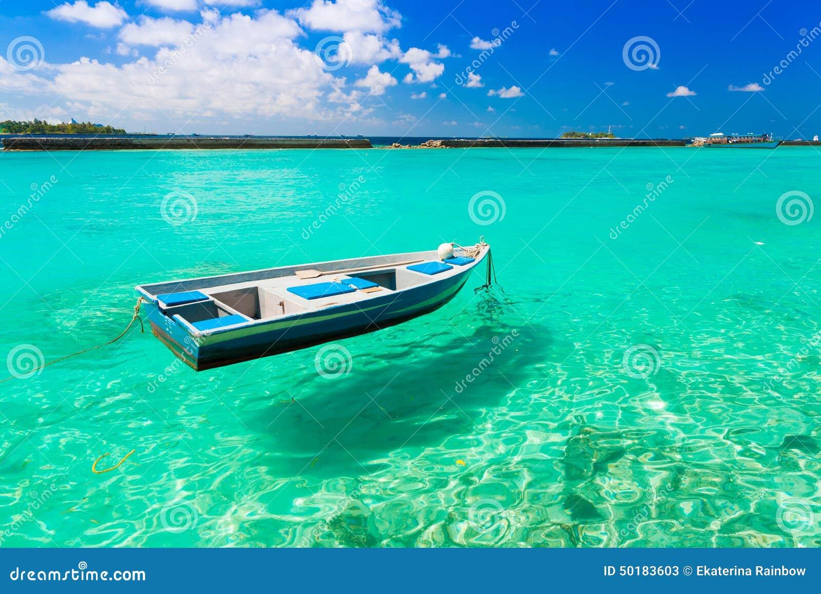 Maldives Boat Stock Image Image Of Recreation Palm
