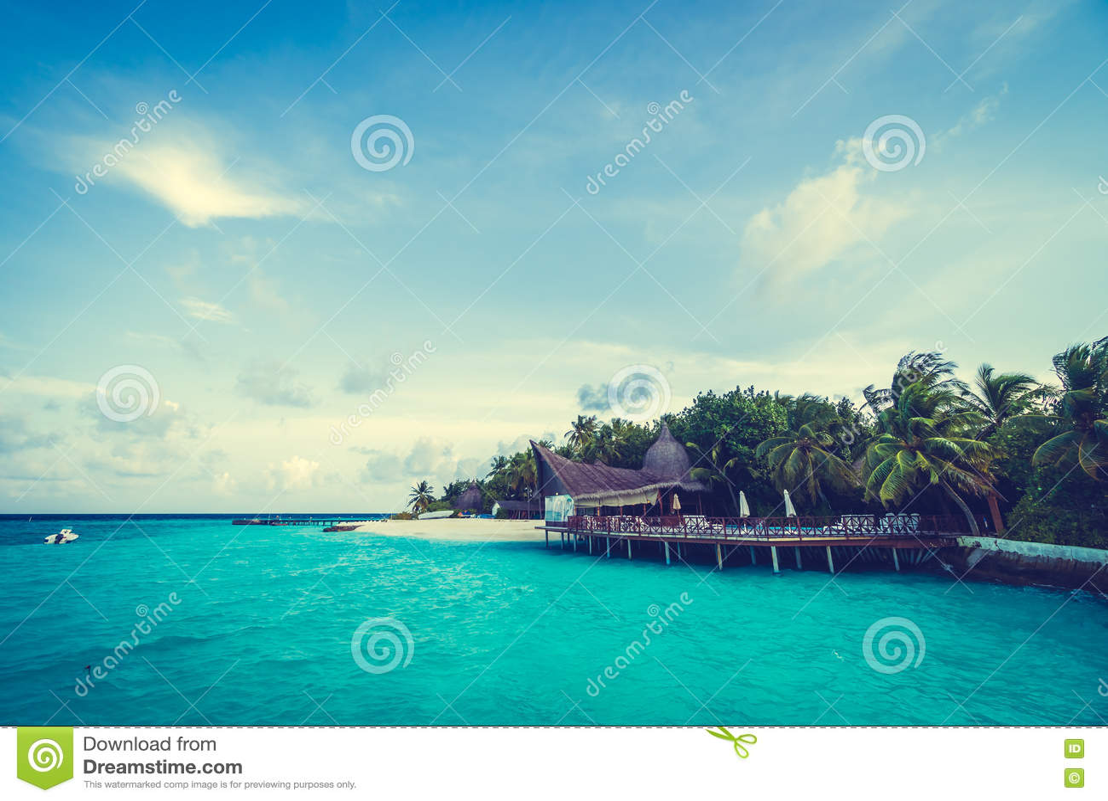 maldives island stock photo image 73122395. Black Bedroom Furniture Sets. Home Design Ideas