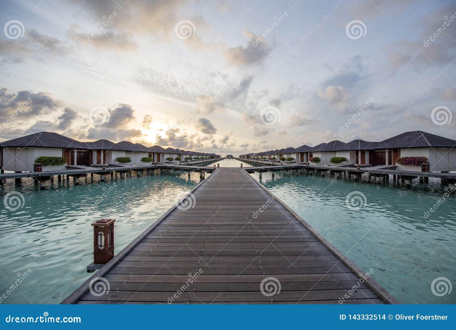 Maldives Paradise Island Sunrise Stock Photo Image Of