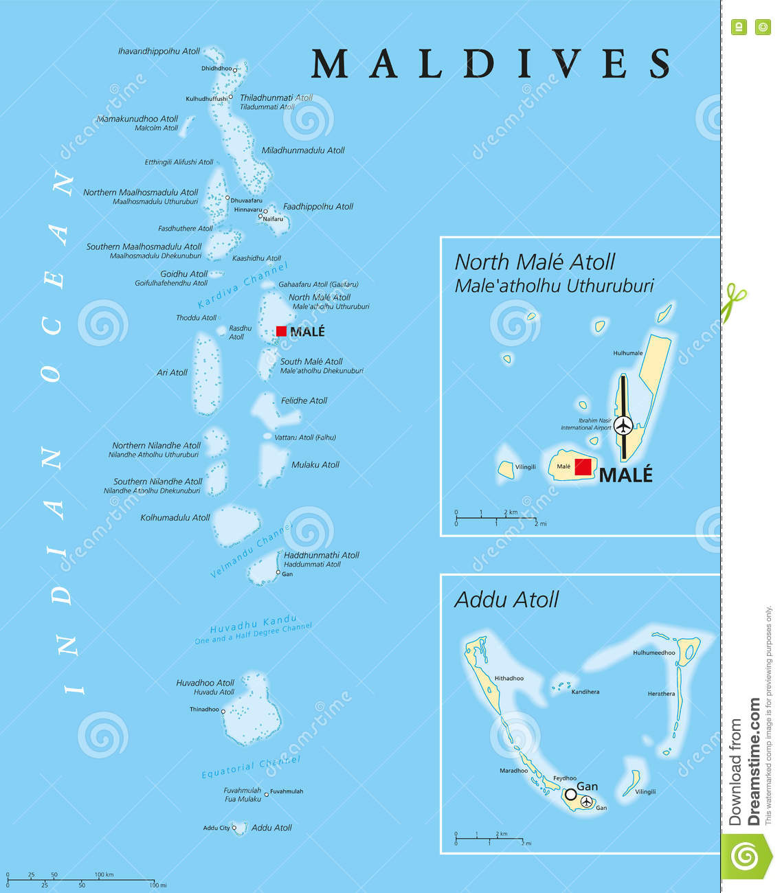 Maldives Political Map Stock Vector Illustration Of King