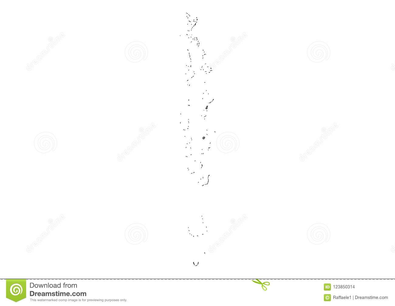 Maldives State Map Vector Silhouette Stock Vector - Illustration of ...