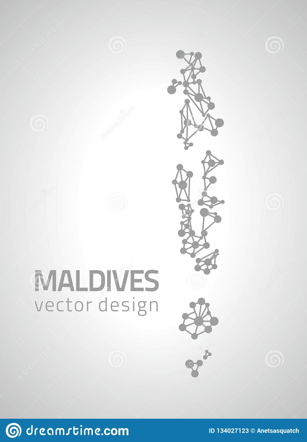 Maldives Vector Dot Grey Outline Triangle Perspective Modern