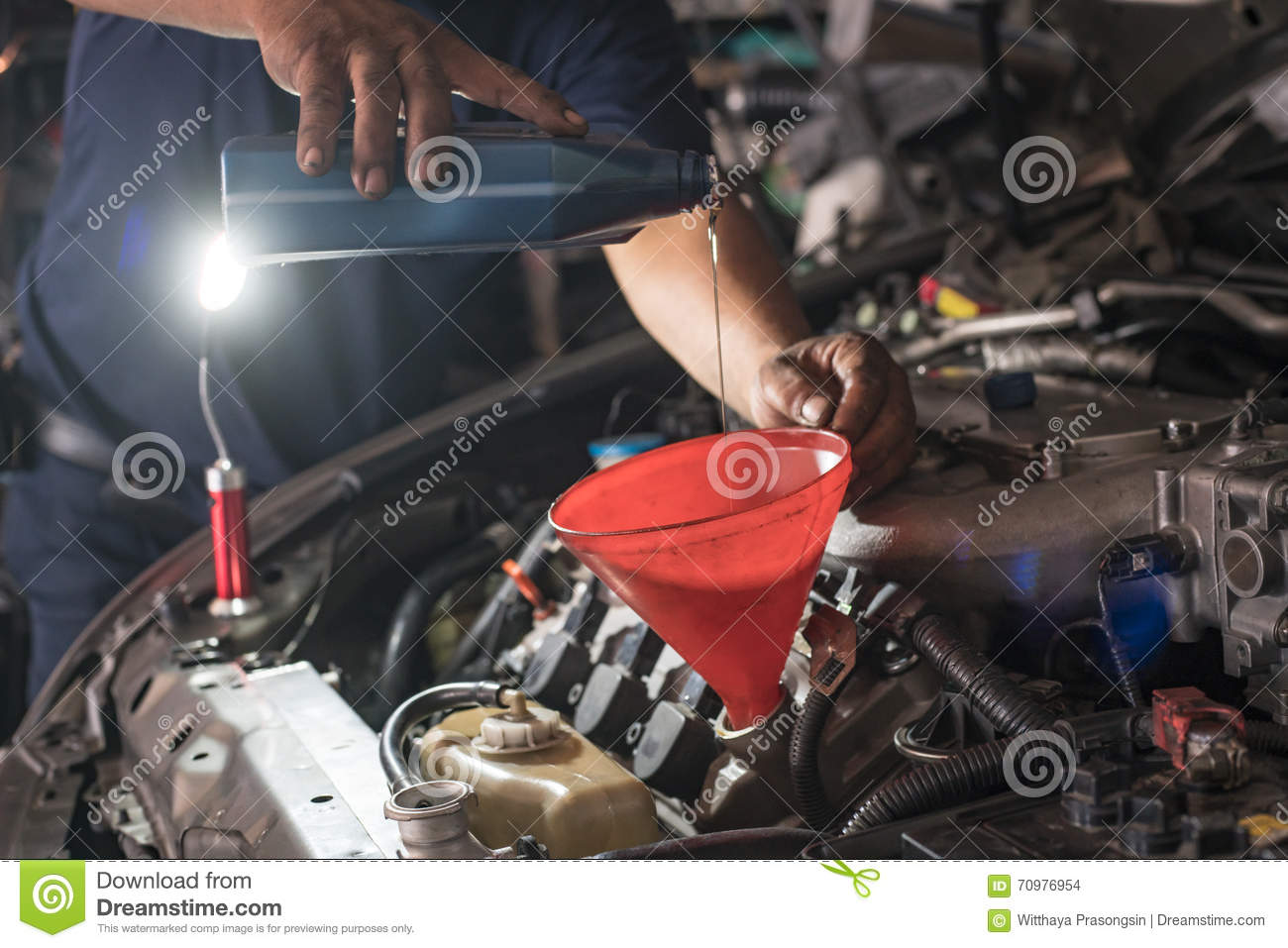 Male adding oil with a funnel after a do it yourself oil change download male adding oil with a funnel after a do it yourself oil change solutioingenieria Images