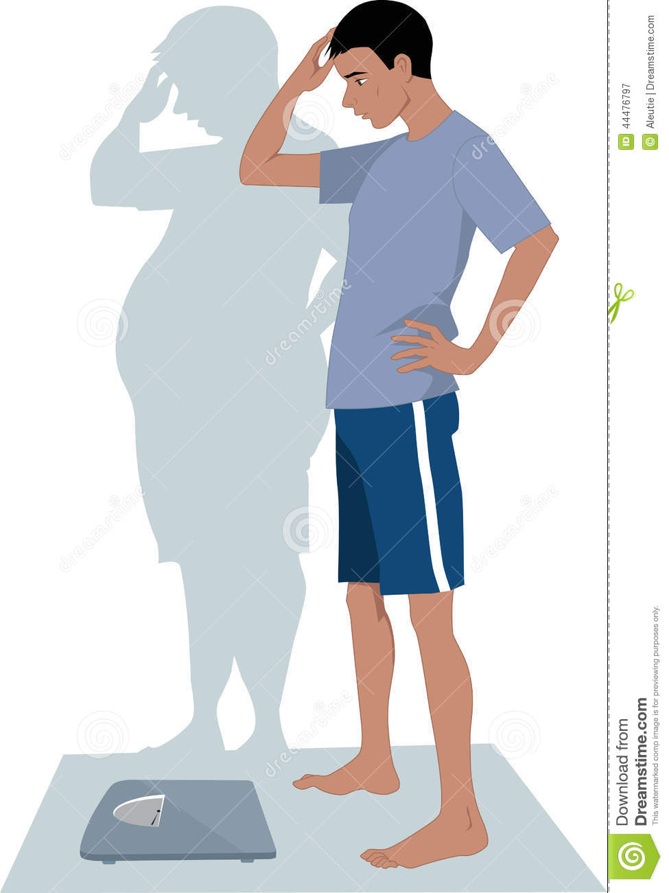 Male Anorexia Stock Vector Illustration Of Food Eating