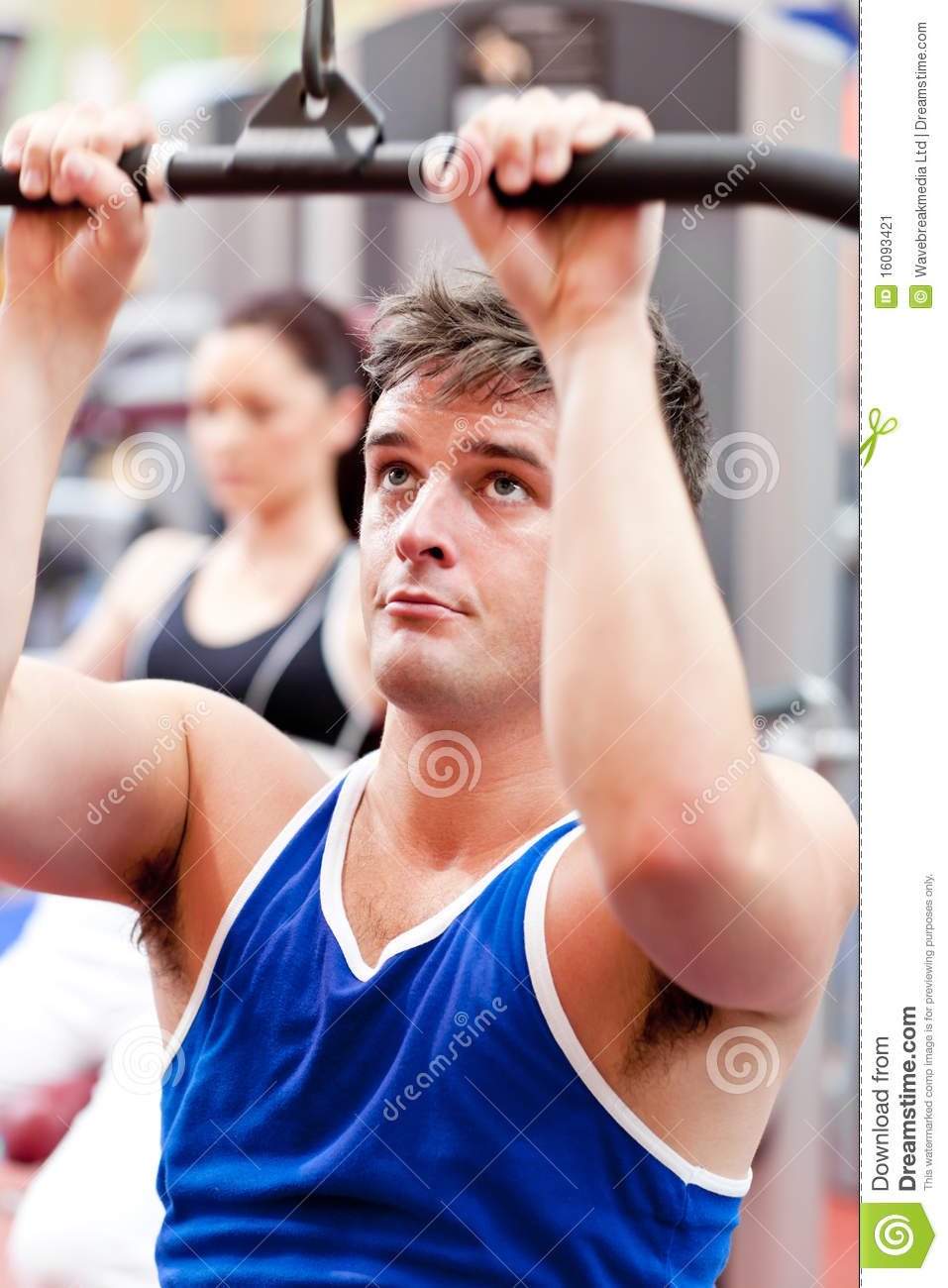 Male Athlete Practicing Body Building Stock Image Image