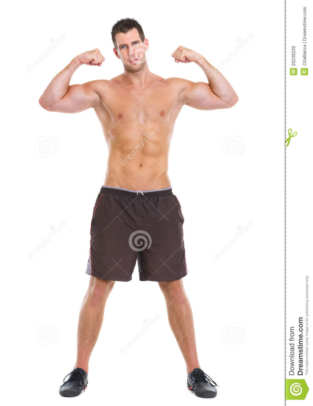 Male Athlete Showing Muscular Body Royalty-Free Stock ...