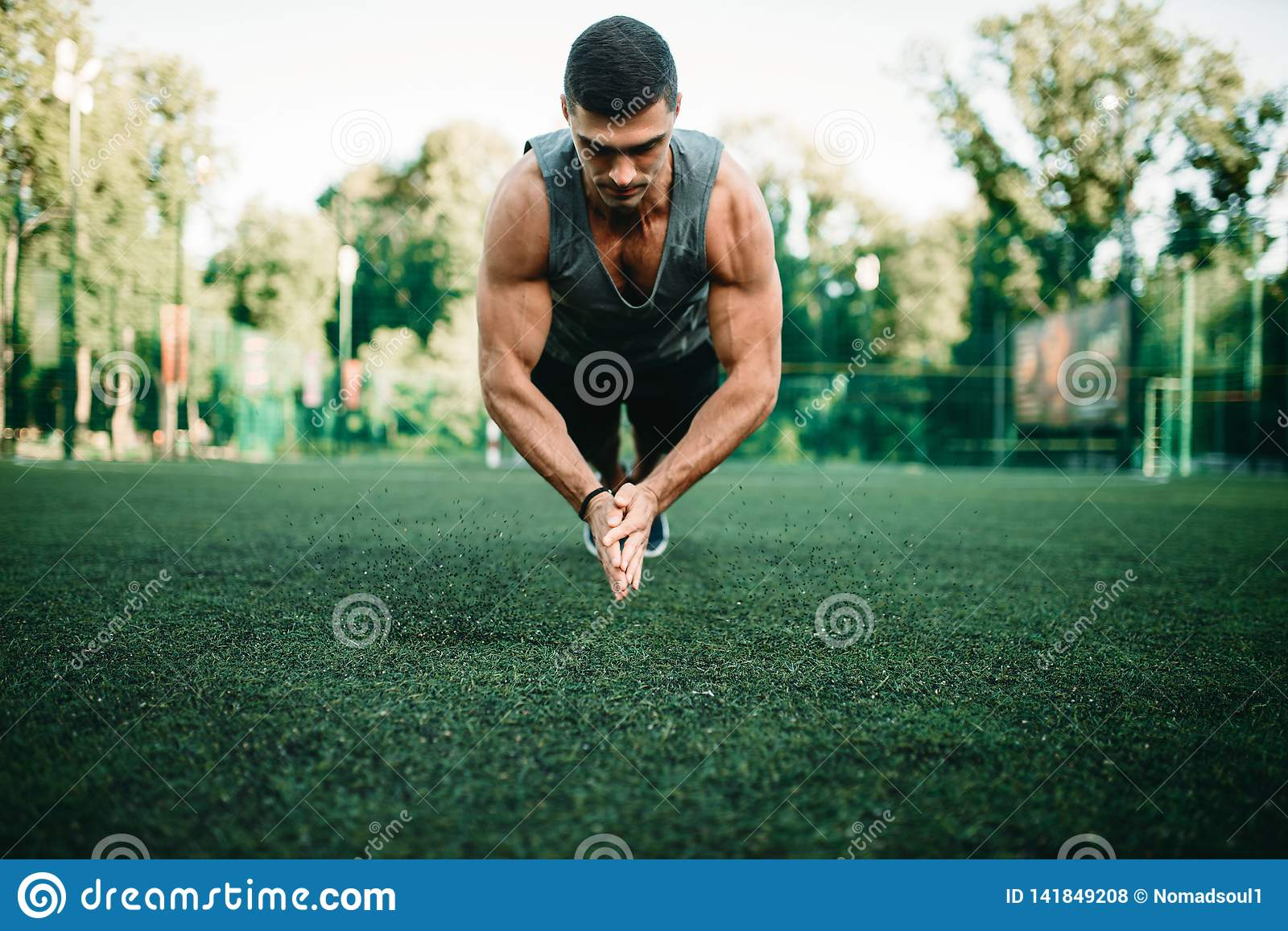 Workout Yours Abdominal Muscles`. Stock Photo - Image of