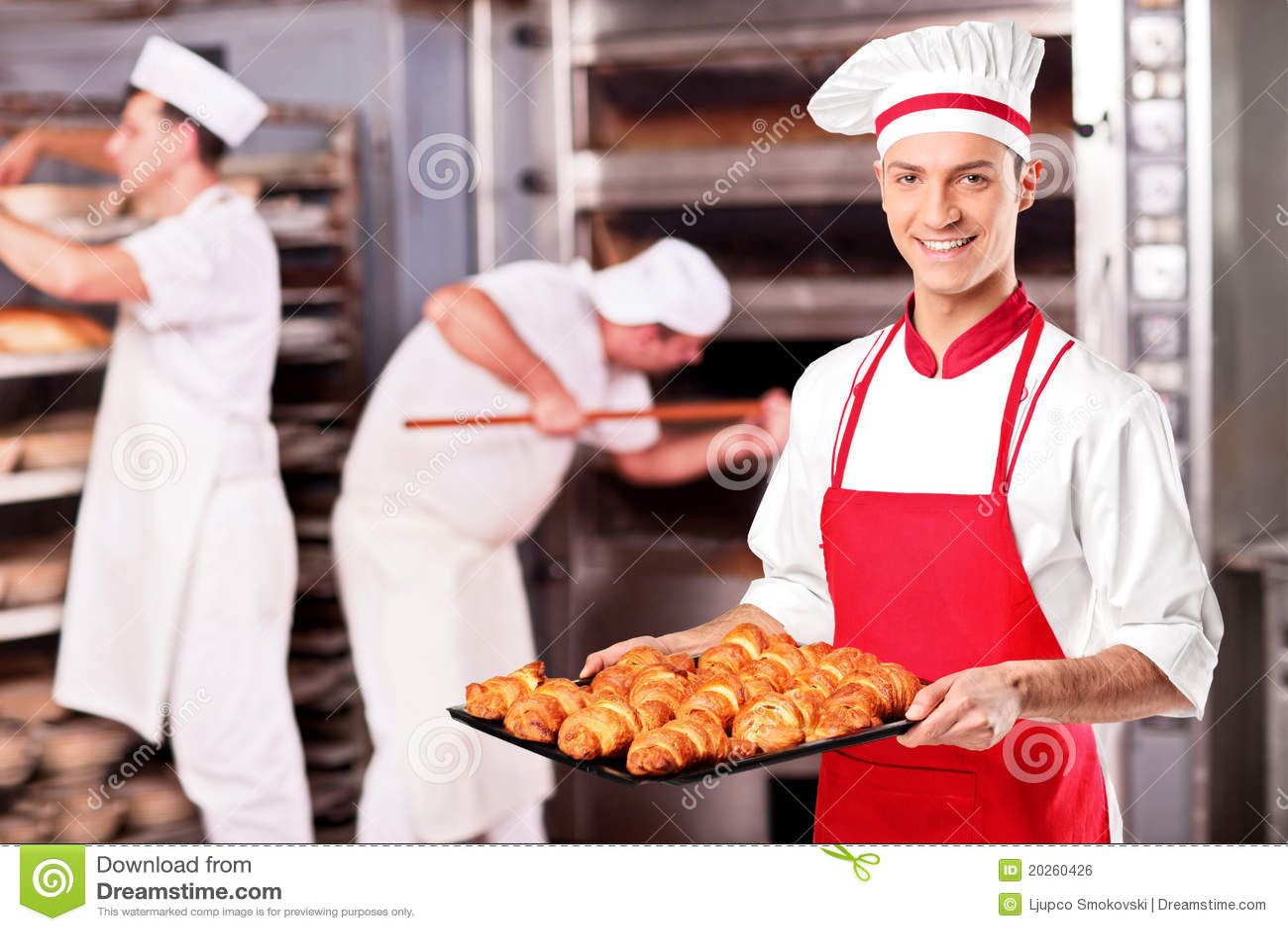 Male bagareholdinggiffel i bageri