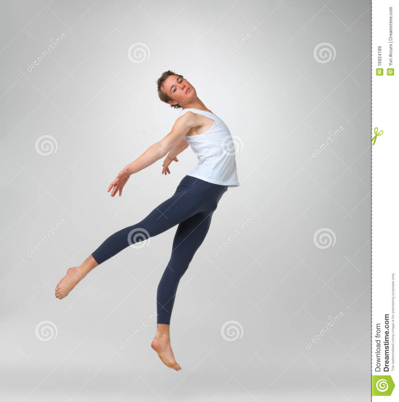 Male Ballet Dancer Performing Stock Image - Image Of Adult, Full 16924189-8368