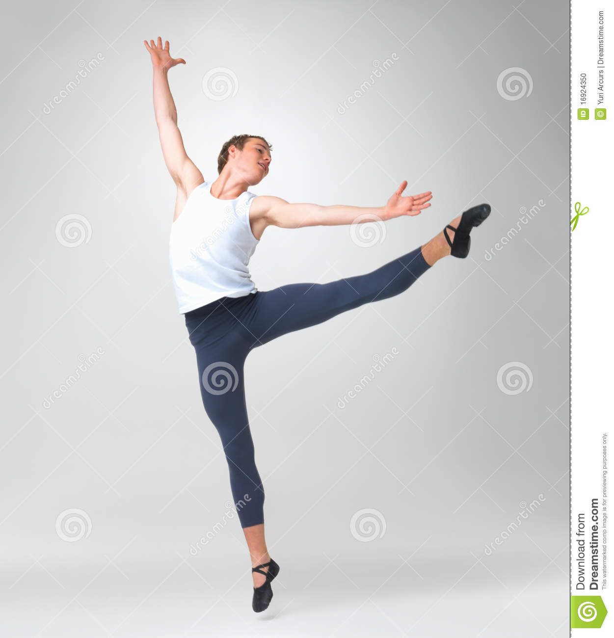 Male Ballet Dancer Performing Stock Photo - Image Of Movement, Classic 16924350-4247