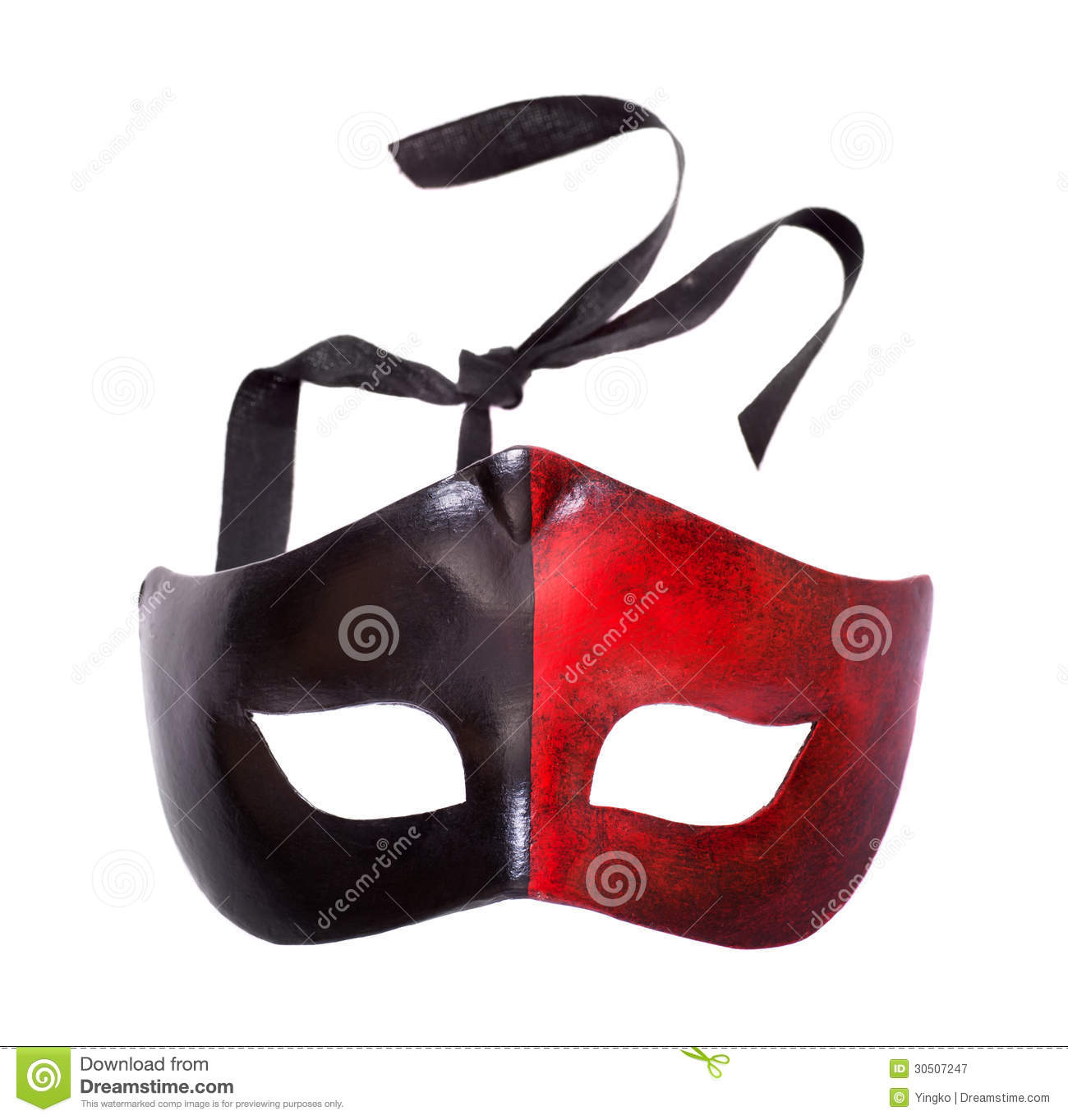 Male Black And Red Carnival Mask Stock Image Of Italian Kefir