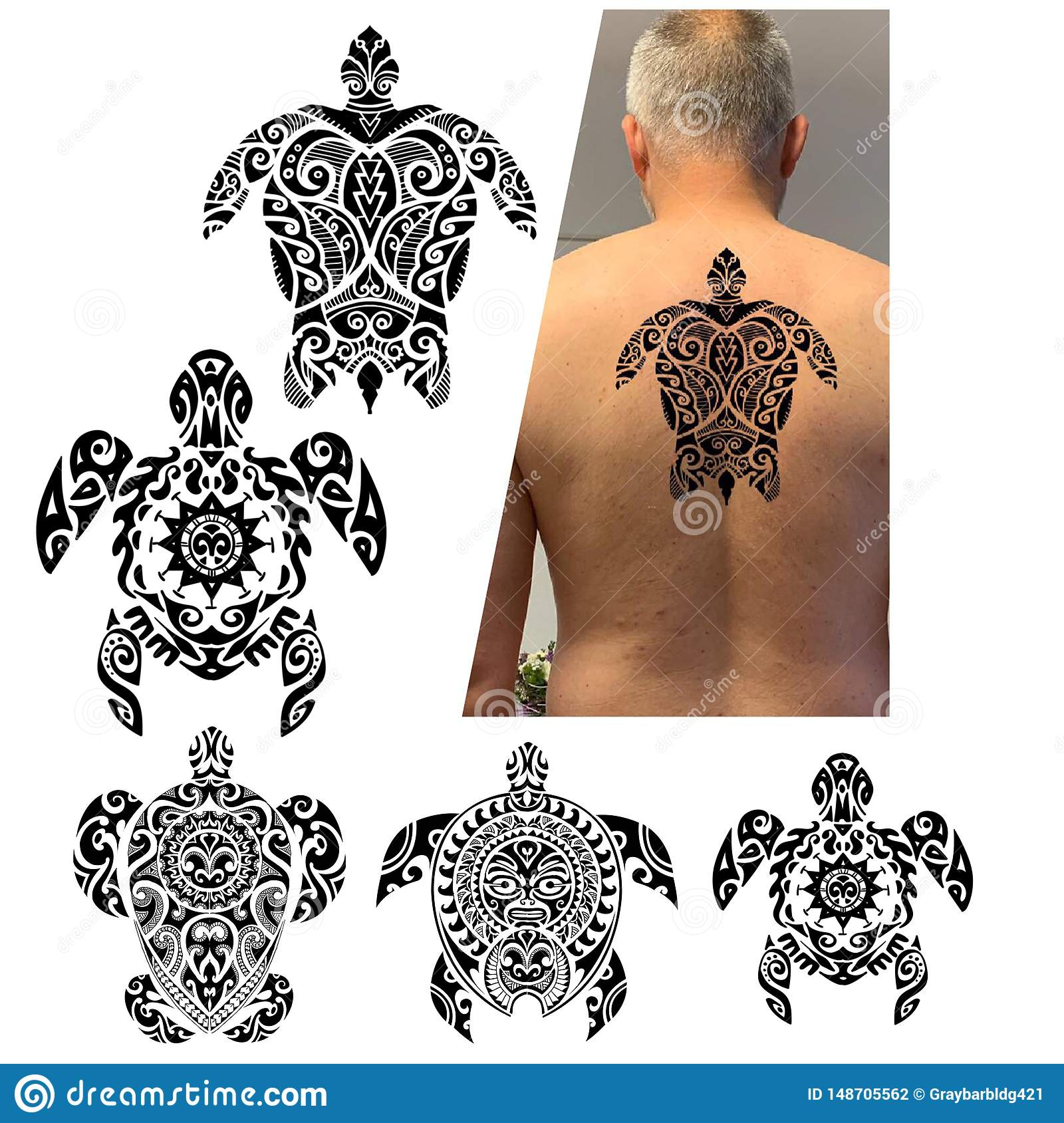 Male body back without clothes