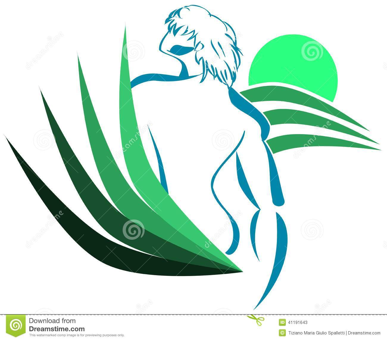 male body with stylized abstract background isolated stock