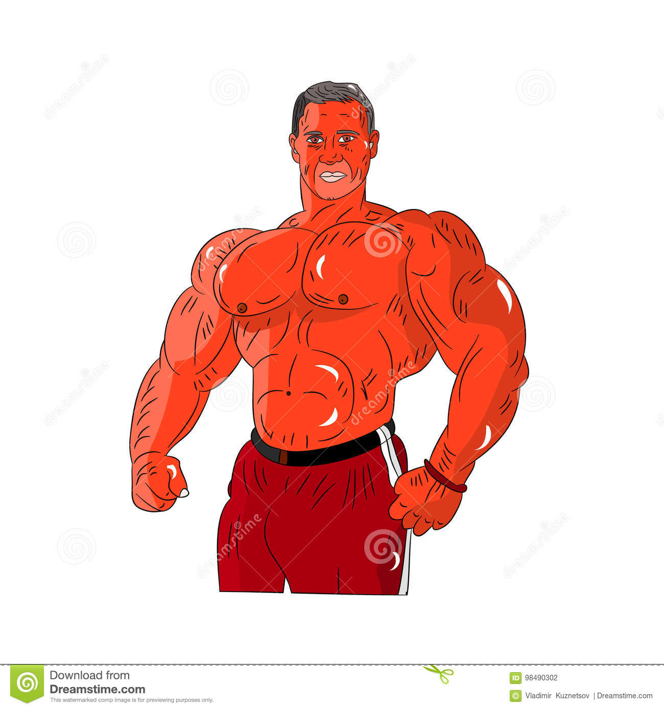 Cartoon bodybuilder stock illustrations 3 501 cartoon - Cartoon body builder ...