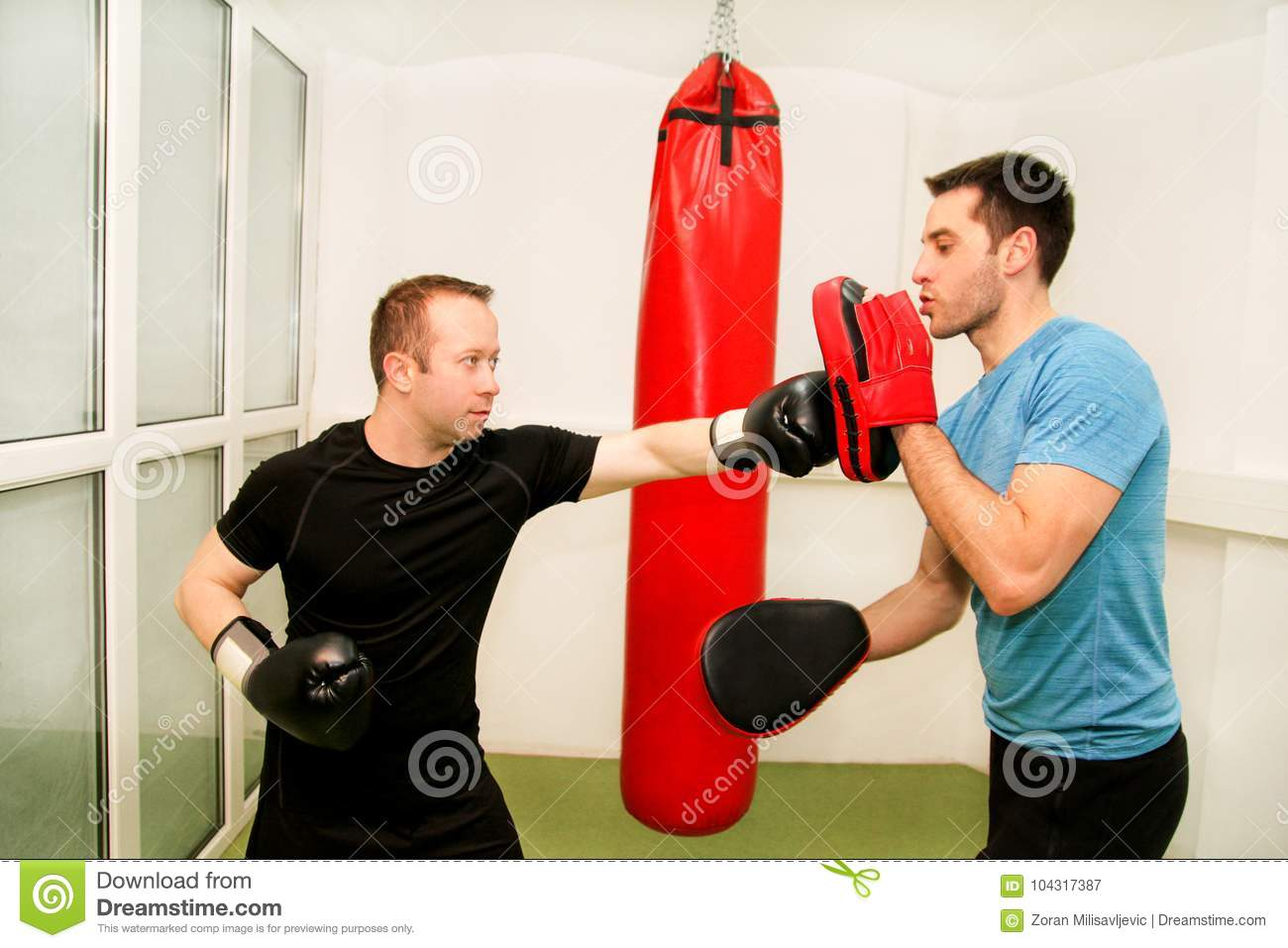 The Male Boxer Training At Gym Stock Image - Image of boxer