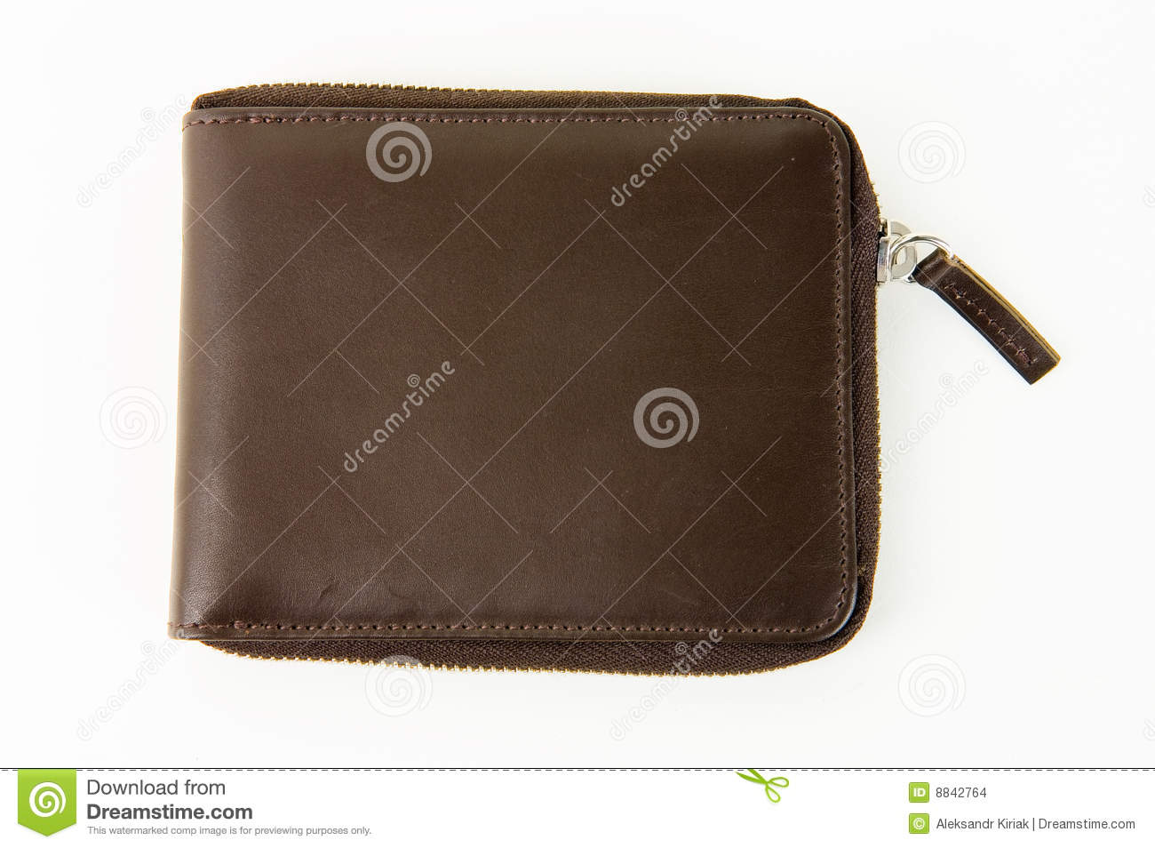 Male Brown Leather Wallet Stock Images - Image: 8842764
