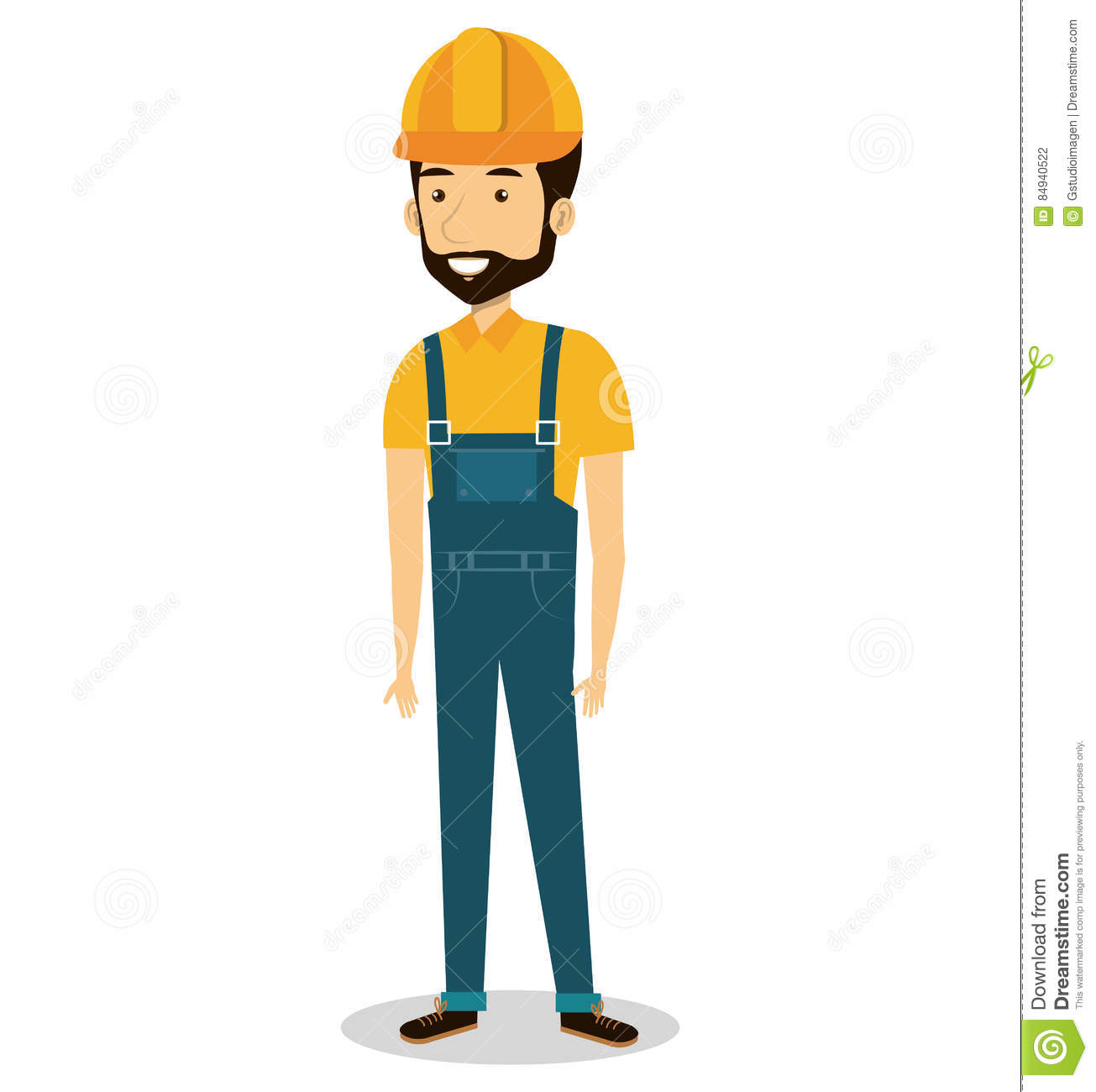 Character Design Job Requirements : Male builder avatar character stock illustration