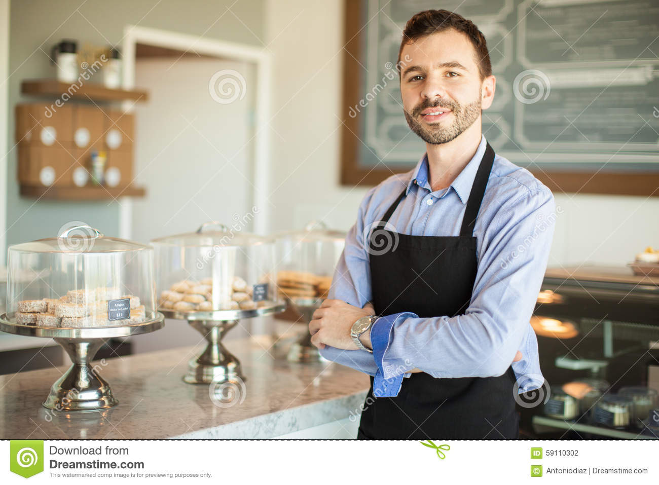 Male Business Owner In A Bakery Stock Photo - Image: 59110302