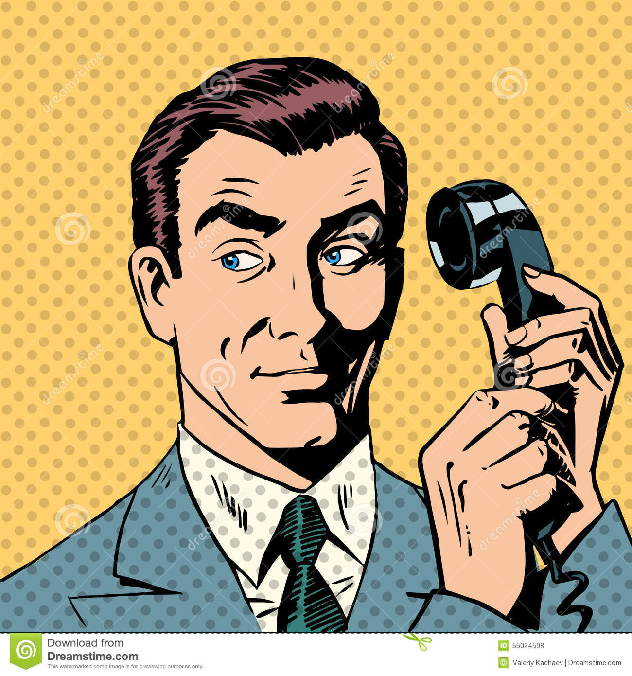 male businessman talking on the phone style pop stock no talking in class clipart No Yelling Clip Art